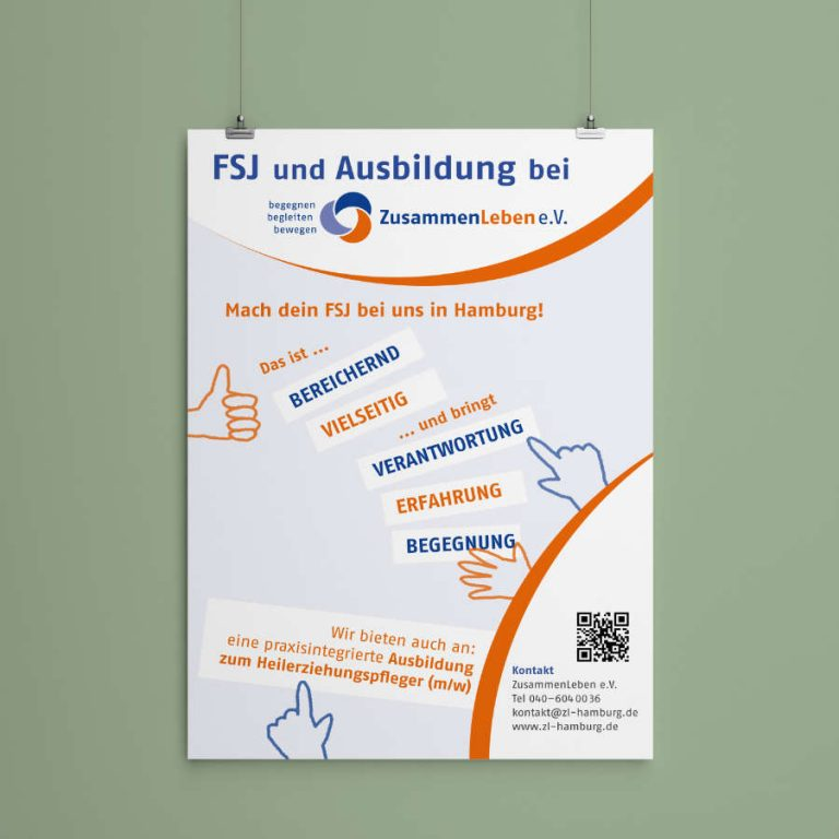 ulrikebahl-grafik-ZusammenLeben-Plakat-Ausbildung