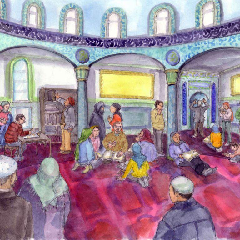 ulrikebahl-illustration-Islam-Moschee