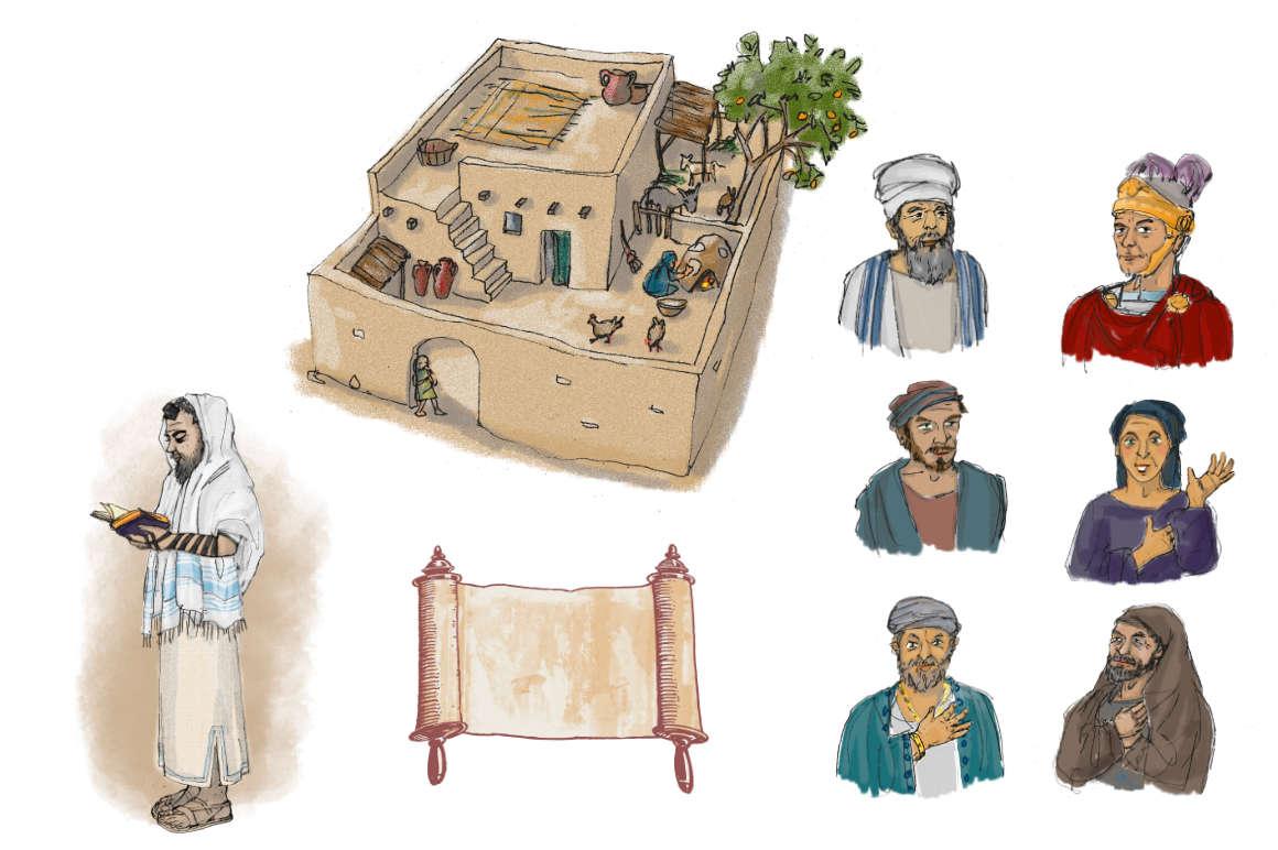 ulrikebahl-illustration-Schulbuch-Religion-dieZeitJesu