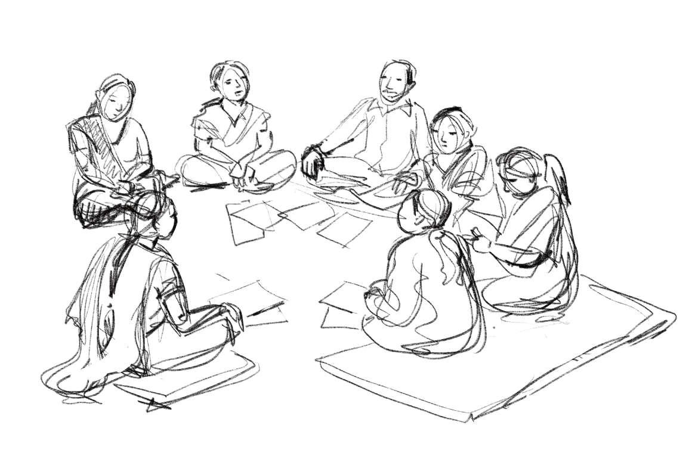 ulrikebahl-illustration-DGB-Diskussion