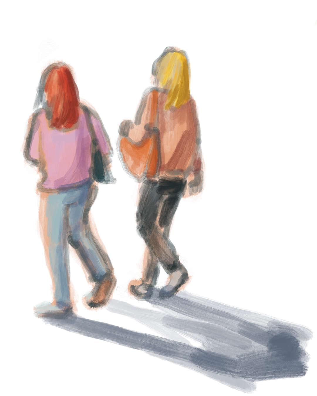 ulrikebahl-illustration-People-Girls-Shopping-walking